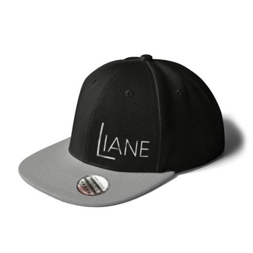 Cap Snapback Liane Logo schwarz grau
