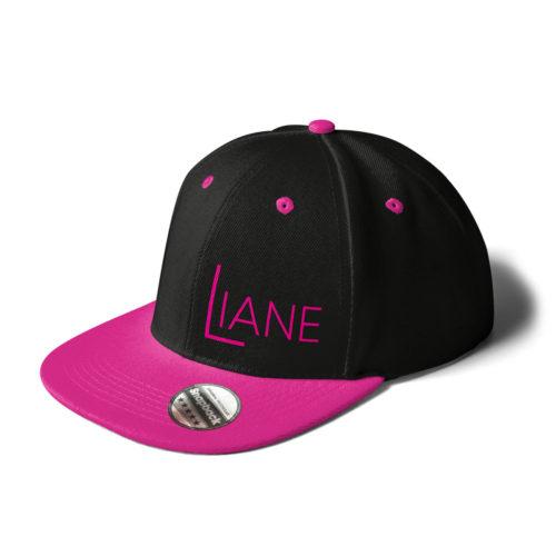 Cap Snapback Liane Logo Schwarz pink