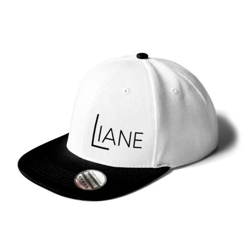 Cap Snapback Liane Logo weiß schwarz