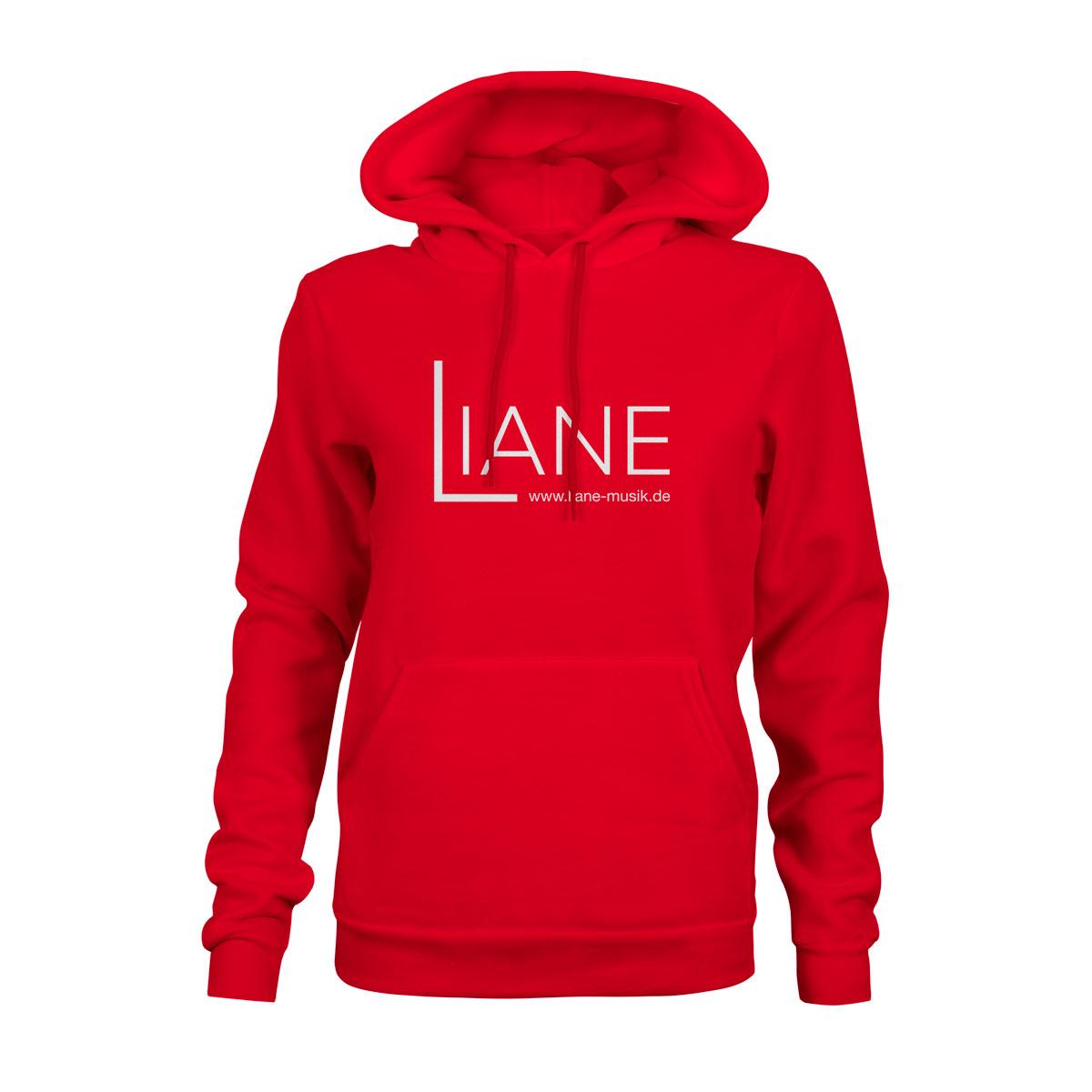 Hoodie Damen Liane Logo rot