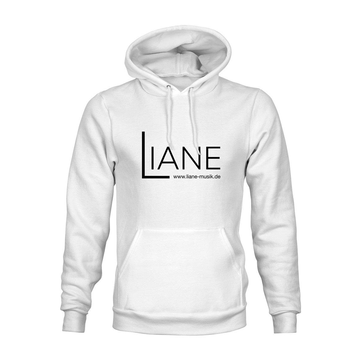 Hoodie Unisex Liane Logo weiß
