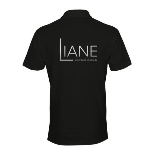 Liane Poloshirt Herren schwarz