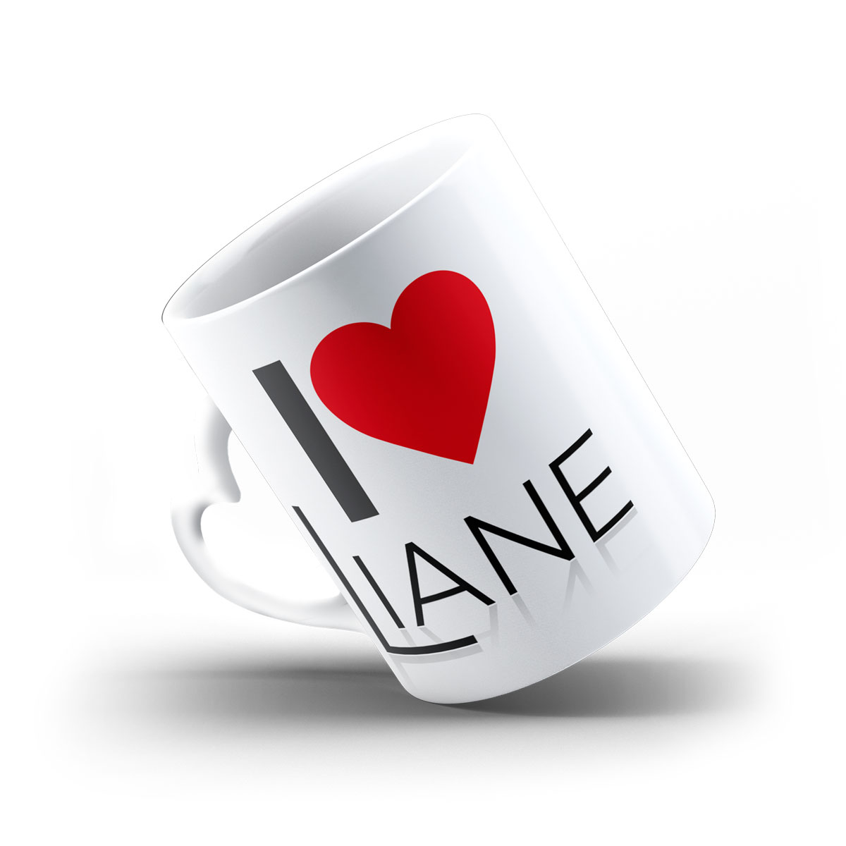 Tasse Herz I love Liane