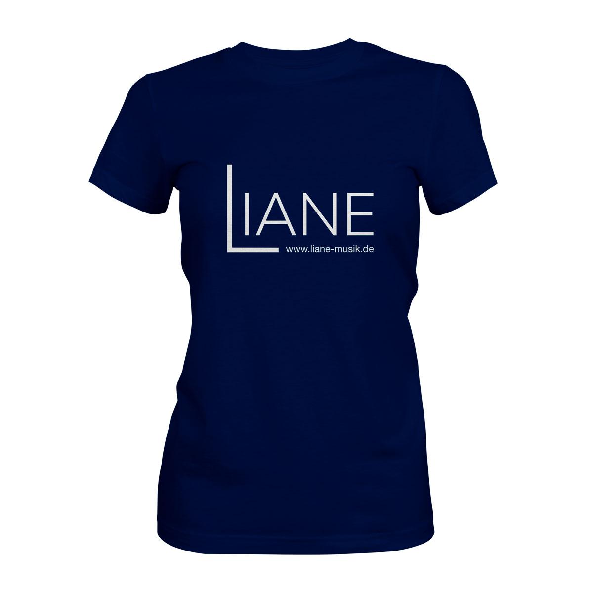 T-Shirt Damen Liane Logo blau