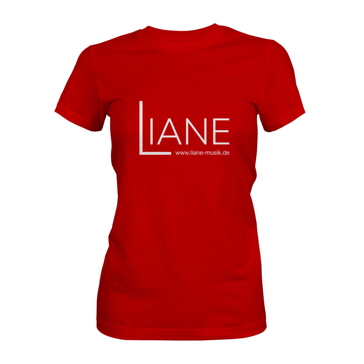 T-Shirt Damen Liane Logo rot