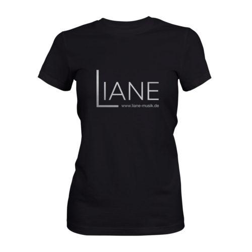 T-Shirt Damen Liane Logo schwarz
