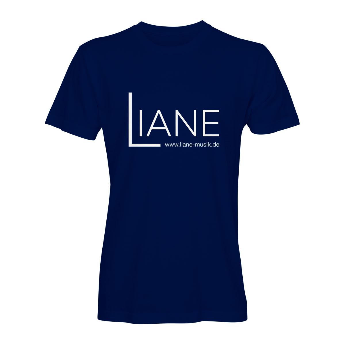 T-Shirt Herren Liane Logo blau