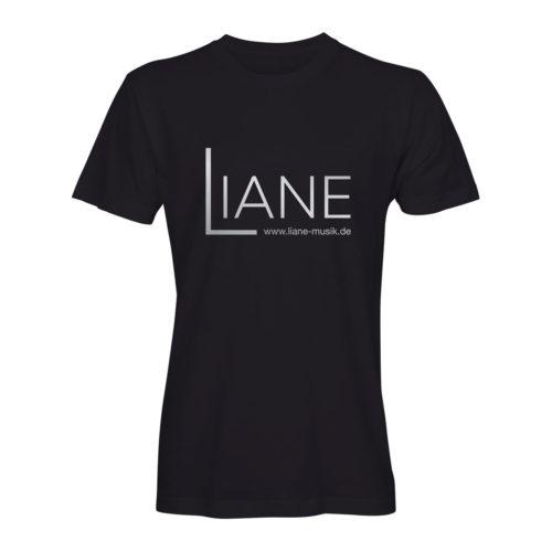 T-Shirt Herren Liane Logo schwarz