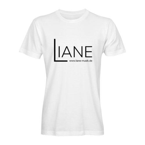 T-Shirt Herren Liane Logo weiß