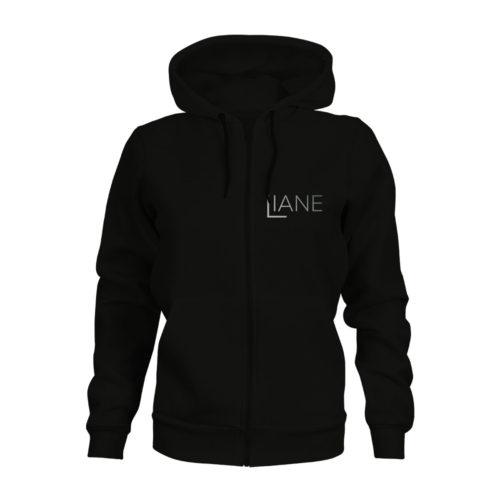 ZIP Hoodie Damen Liane Logo schwarz