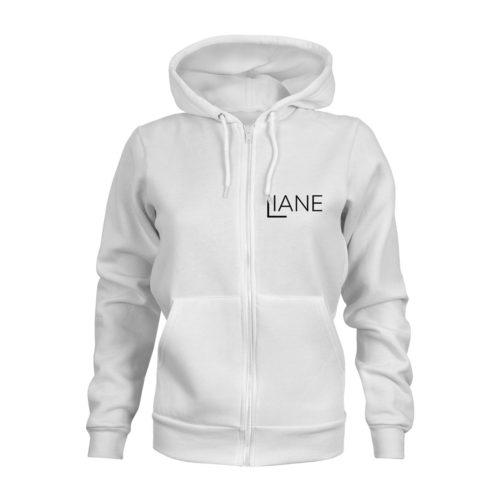 ZIP Hoodie Damen Liane Logo weiß