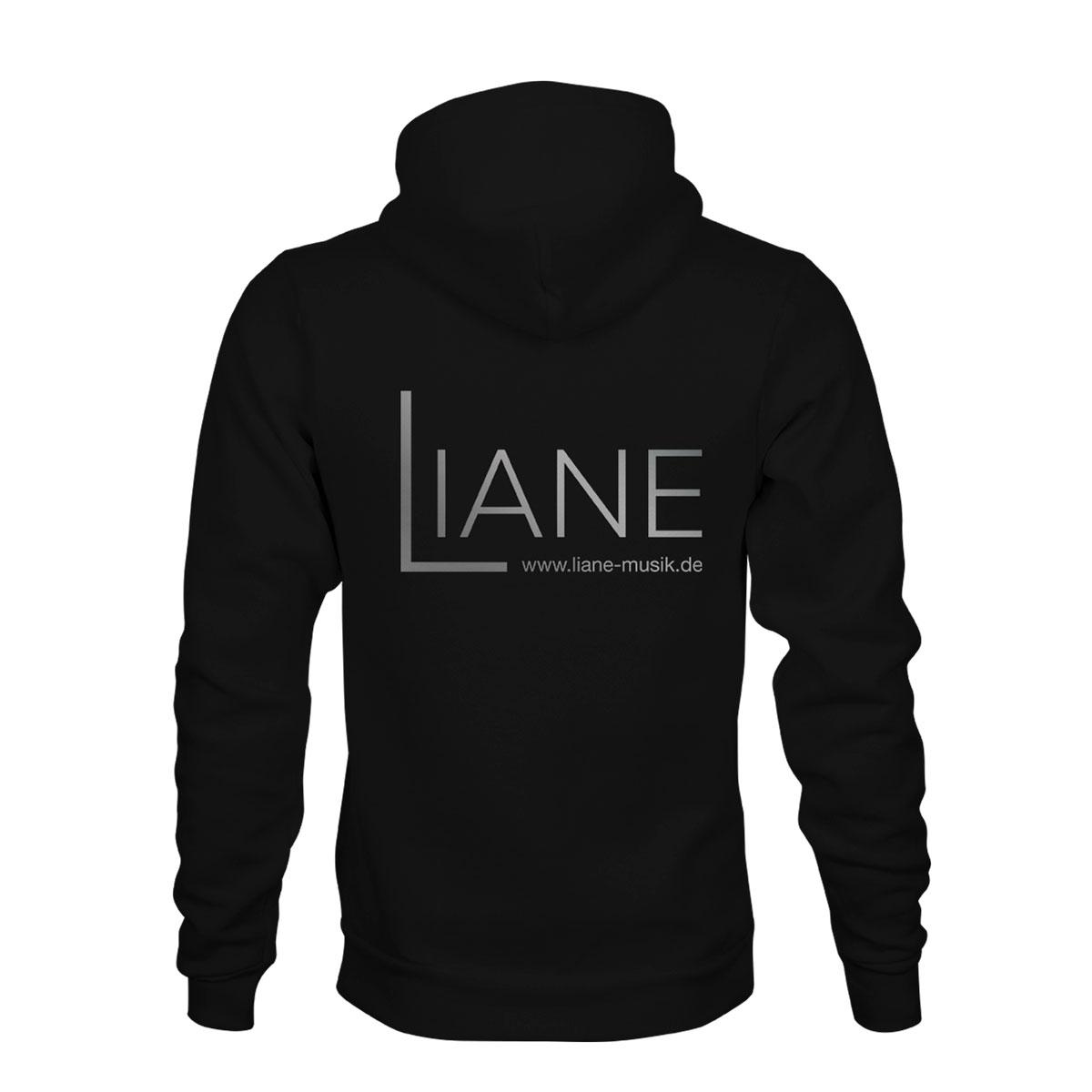 ZIP Hoodie Herren Liane Logo schwarz
