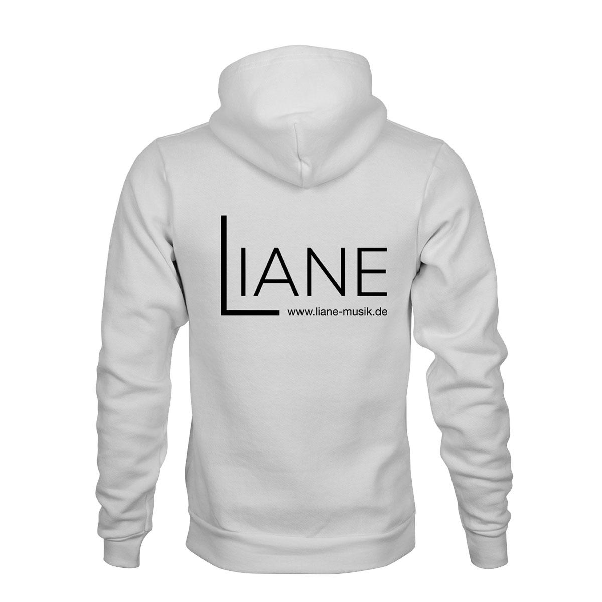 ZIP Hoodie Herren Liane Logo weiß